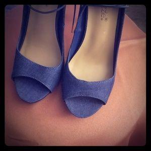 Blue Jean Style Heels